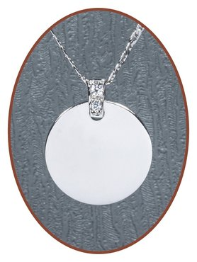 925 Sterling Silver Engraving Pendant - ZG02
