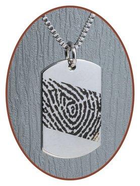 Stainless Steel Fingerprint Remembrance Pendant - 2236SS-L