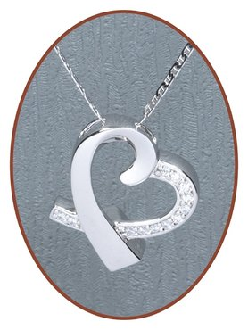 925 Sterling Silver Cremation Pendant 'in my heart' - Z017
