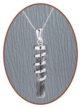 925 Sterling Silver Designer Lock of Hair Pendant  - Z032H