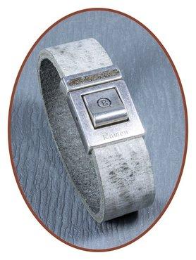 QúeB Memorials Leather Special Cremation Ash Bracelet - ZA004