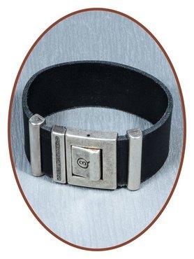 QúeB Memorials Leather Special Cremation Ash Bracelet - ZA009S