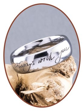 Tungsten Carbide Engravable Remembrance Ring - TUR001R