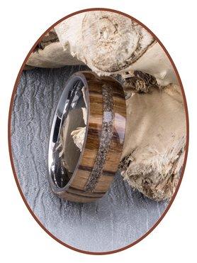 JB Memorials Natureline Wood / Tungsten Cremation Ring - WR003