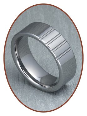 Tungsten Carbide Text Remembrance Ring - XR08