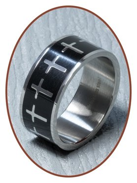 316L Stainless Steel Text Remembrance Ring - XR09