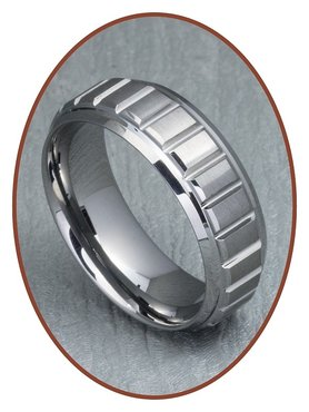 Tungsten Carbide Text Remembrance Ring - XR10