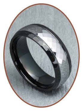 Tungsten Carbide Text Remembrance Ring - XR11