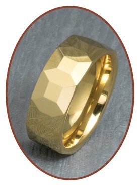 Tungsten Carbide Text Remembrance Ring - XR13