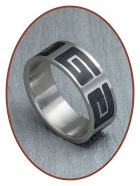 316L Stainless Steel Text Remembrance Ring - XR14