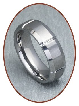 Tungsten Carbide Text Remembrance Ring - XR15