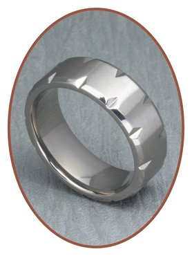 JB Memorials Titanium Text Remembrance Ring - XR16