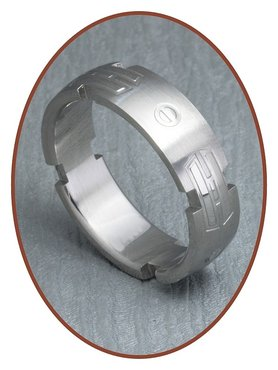 316L Stainless Steel Text Remembrance Ring - XR19