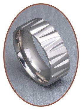Titanium Text Remembrance Ring - XR20