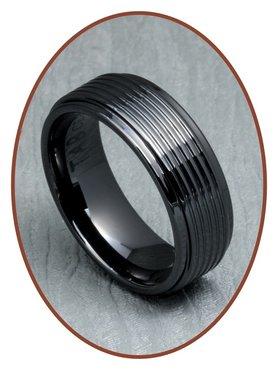 Ceramic Zirkonium Text Remembrance Ring - XR21