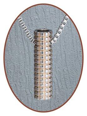 JB Memorials Premium Tungsten Carbide Designer 'Tube' Cremation Pendant - TU002