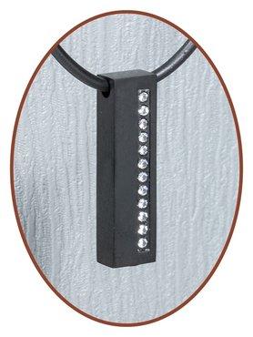Titanium JB Memorials Premium Black Design Cremation Pendant - T007