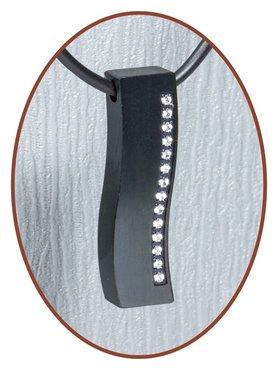 Titanium JB Memorials Premium 'Black Wave' Design Cremation Pendant - T008
