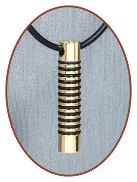 Titanium JB Memorials Premium Goldplated Design Cremation Pendant - T015
