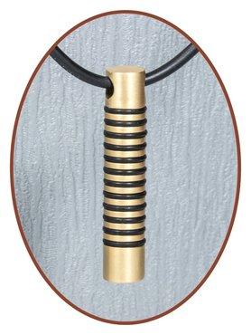 Titanium JB Memorials Premium Gold Design Cremation Pendant - T016