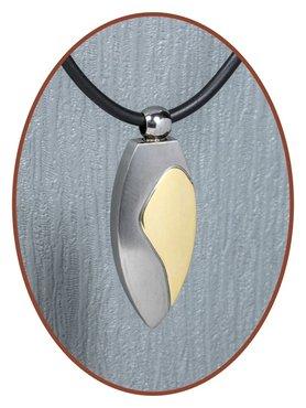 Titanium JB Memorials Premium 'Tear Gold' Design Cremation Pendant - T018