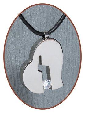 Titanium JB Memorials Premium 'Broken Heart' Cremation Pendant - T019