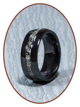 Ceramic Zirconium Cremation Ring - TC01