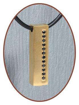 Titanium JB Memorials Premium Gold Design Cremation Pendant - T001