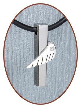 Titanium JB Memorials Premium 'Angelwing' Design Cremation Pendant - T004
