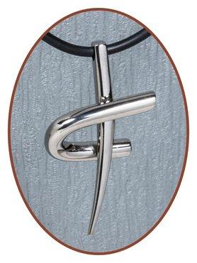Titanium JB Memorials Premium 'Cross' Design Cremation Pendant - T005