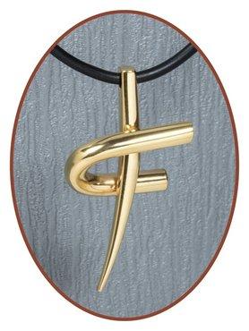 Titanium JB Memorials Premium Gold 'Cross' Design Cremation Pendant - T006