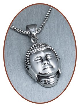 316L Stainless Steel JB Memorials 'Buddha' Cremation Pendant - RSP122