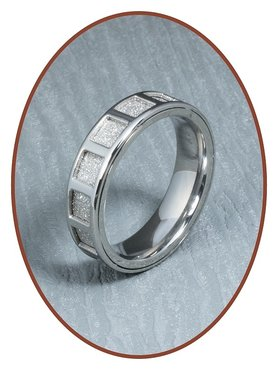 316L Stainless Steel Text Remembrance Ring - RSSD03