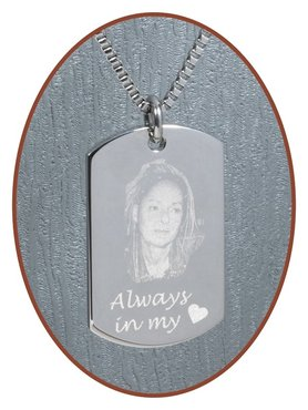 Stainless Steel Photo Remembrance Pendant - 2236SS-C