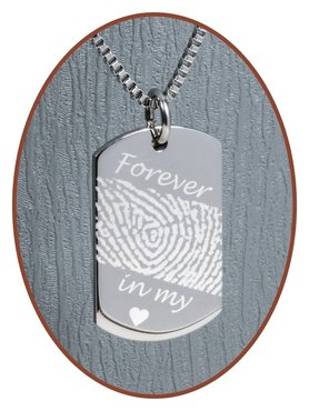 Stainless Steel Fingerprint Remembrance Pendant - 2236SS-A