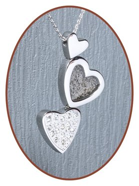316L Stainless Steel JB Memorials 'Heart' Cremation Pendant - RSP092