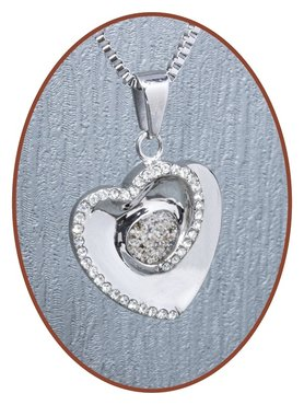 316L Stainless Steel JB Memorials 'Heart' Cremation Pendant - RSP093