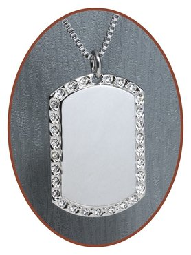 Stainless Steel Engraving Remembrance Pendant - 2536SS
