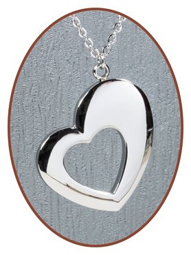 316L Stainless Steel JB Memorials 'Heart' Cremation Pendant - RSP096