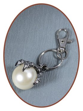 Stainless Steel Cremation Key-ring 'Pearl' - RSP101
