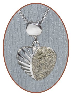 316L Stainless Steel JB Memorials 'Heart' Cremation Pendant - RSP048
