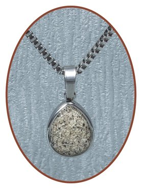 316L Stainless Steel JB Memorials 'Tear' Cremation Pendant - RSP070