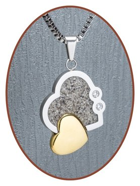 316L Stainless Steel JB Memorials 'Heart' Cremation Pendant - RSP076G
