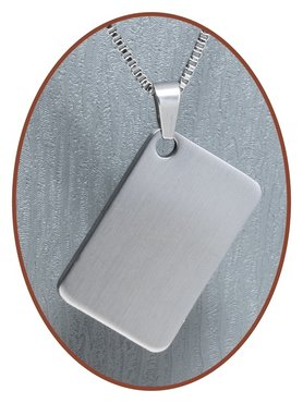 Stainless Steel Engraving Remembrance Pendant - 3225SS