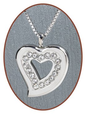 316L Stainless Steel JB Memorials 'Heart' Cremation Pendant - RSP001