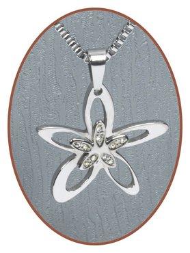 316L Stainless Steel JB Memorials 'Flower' Cremation Pendant - RSP013