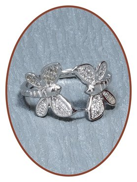 JB Memorials 925 Sterling Silver 'Butterfly' Cremation Ring - RB111
