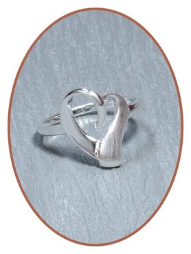 JB Memorials 925 Sterling Silver 'Heart' Cremation Ring - RB116