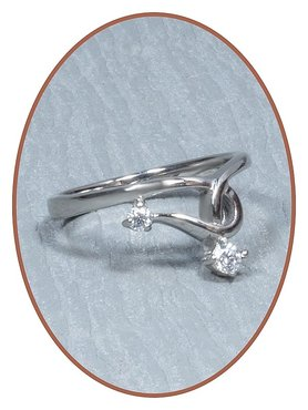 Stainless Steel CZ Cremation Ring - RB117