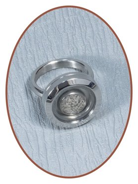 Stainless Steel Medaillon Cremation Ring - RB127